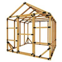 E-Z Frame 8x8 Standard Storage Shed or Greenhouse Kit - Black - 8'x8'