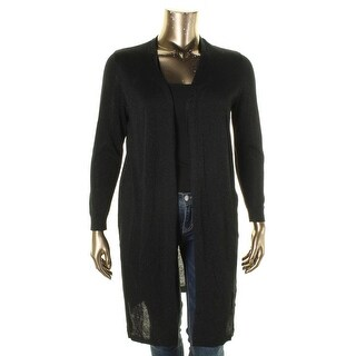 Vince Camuto Womens Plus Cardigan Sweater Metallic Open Front