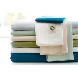 Certified Organic 300 Thread Count Cotton Stripe Sateen Duvet Cover Set