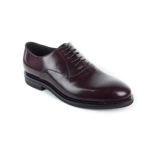 4743731209b0 Shop Brunello Cucinelli Men's Burgundy Leather Derby Oxfords - Free  Shipping Today - Overstock - 18217914
