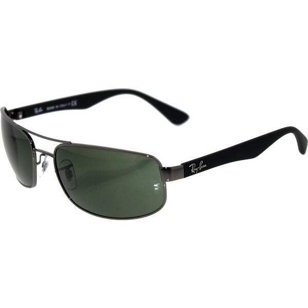 4a10cf2f2f Ray-Ban Men s RB3445 RB3445-004-61 Black Rectangle Sunglasses - Free ...