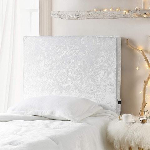University Transitional Cushioned Dorm Headboard - Velvet Crush - Ice White