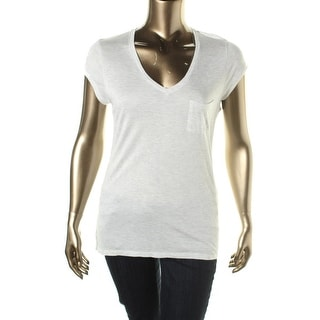 Calvin Klein Jeans Womens Juniors Casual Top Sheer Short Sleeves