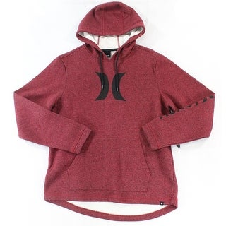 Hurley NEW Red Mens Size Large L Pullover Logo Printed Seamed Hoodie