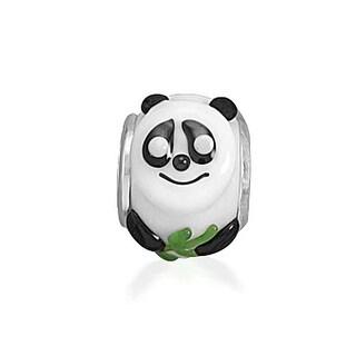 Bling Jewelry Sterling Silver Panda Bear Glass Animal Bead Charm