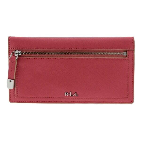 Lauren Ralph Lauren Womens Palley Clutch Wallet Leather Slim