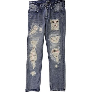 Link to I-N-C Mens Plaid Patched Straight Leg Jeans Similar Items in Pants