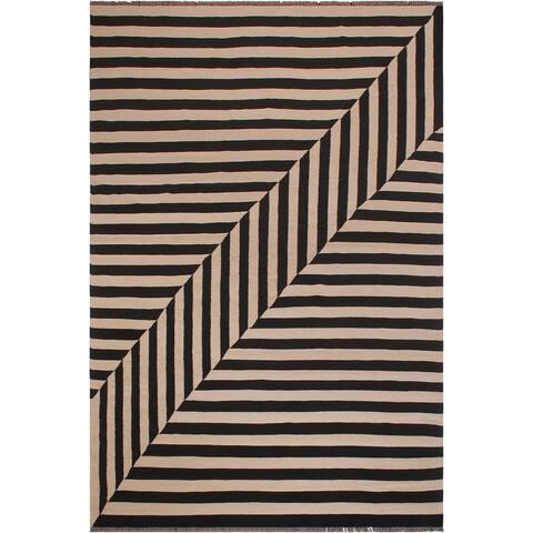 "Bauhaus Turkish Kilim Joni Hand-Woven Area Rug - 8'1"" x 10'1"""