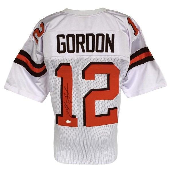 best sneakers ce84a 93407 Josh Gordon Signed Custom White Pro-Style Football Jersey JSA