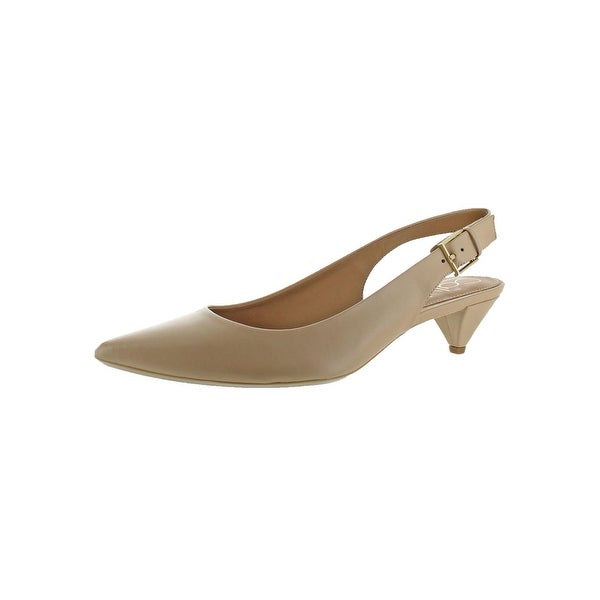 Calvin Klein Womens Lara Slingback Sandals Leather Pointed Toe