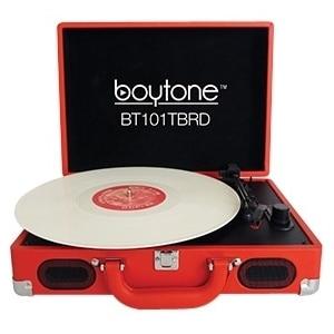 boytone BT-101TBRD boytone Mobile Briefcase Turntable BT-101TBRD - Belt Drive - 33.3, 45, 78 rpm - Red
