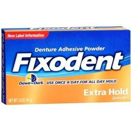 Fixodent Denture Adhesive Powder Extra Hold 1.60 oz