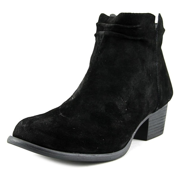 Jessica Simpson Dallyn Women Round Toe Suede Black Ankle Boot