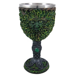 Cool Celtic Green Man Wine Goblet Pagan Wicca