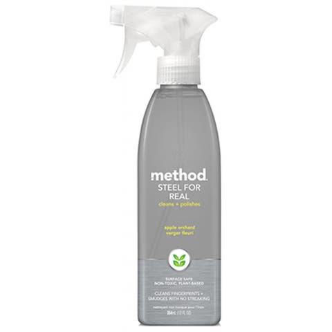 Method 00084 Steel For Real Stainless Steel Cleaner, Apple Orchard, 12 Oz