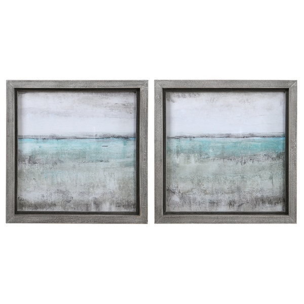 Uttermost Aqua Horizon Framed Prints (Set of 2). Opens flyout.