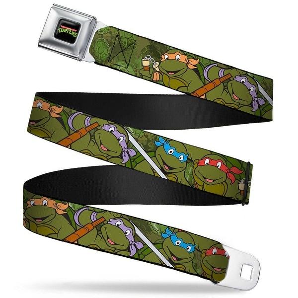 Classic Tmnt Logo Full Color Classic Teenage Mutant Ninja Turtles Group Seatbelt Belt