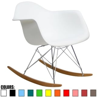 2xhome Modern Plastic Rocking Chair Armchair With ArmColorsNatural Wood Rockers Dining