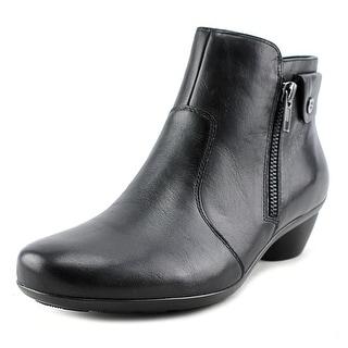 Naturalizer Haley Women W Round Toe Leather Black Bootie