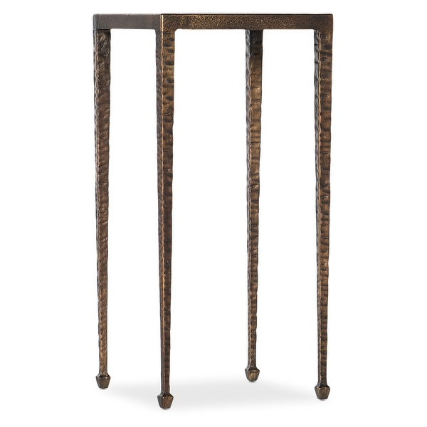 """Hooker Furniture 5750-80117 Mons 12"""" Wide Metal Top Metal End Table from the Boheme Collection - Antique Gold"""