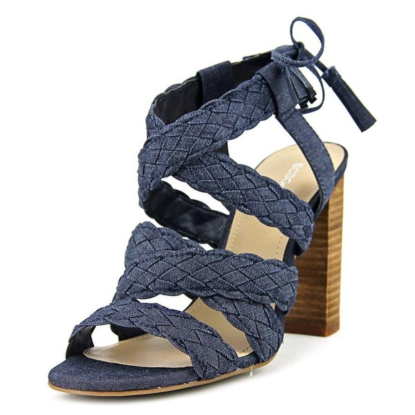 BCBGeneration Ledina Women Open Toe Canvas Blue Sandals