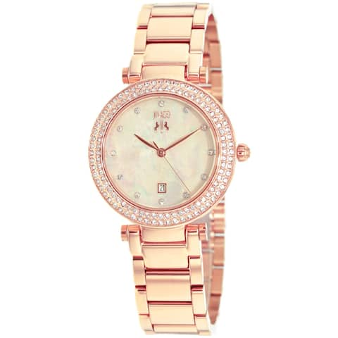 Jivago Women's Parure Peach Mother of Pearl Dial Watch - JV5312