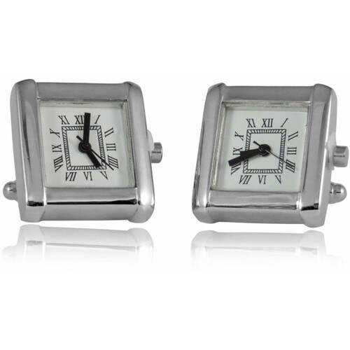 Working Silver Watch Cufflinks Functional
