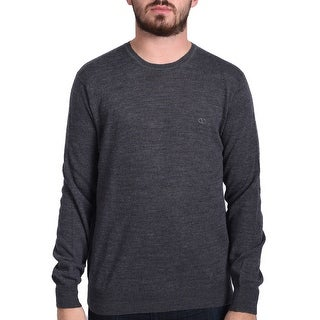 Valentino Men's Crew Neck Sweater Grey