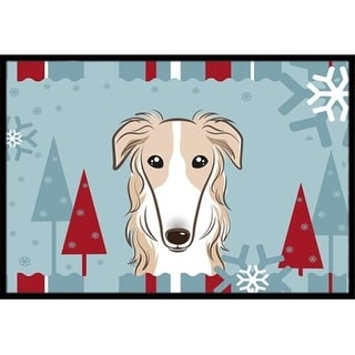 Carolines Treasures BB1724JMAT Winter Holiday Borzoi Indoor & Outdoor Mat 24 x 36 in.