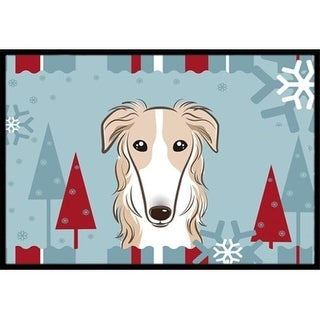 Carolines Treasures BB1724MAT Winter Holiday Borzoi Indoor & Outdoor Mat 18 x 27 in.