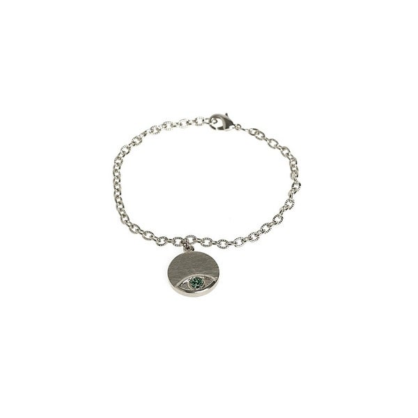 House of Harlow by Nicole Richie Womens Charm Bracelet Evil Eye Crystal Pave