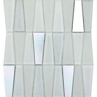"Emser Tile W80IMGE1112MOT Imagine - 11-13/16"" x 10-13/16"" Trapezoid Mosaic Multi - N/A"