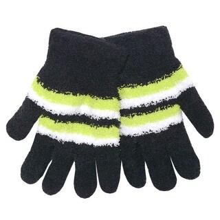 Gold Medal Women Black Yellow White Stripe Butter Gloves