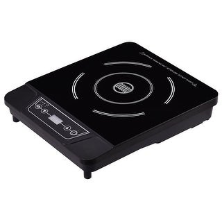 Gymax New Portable Single Burner Digital Hot Plate Electric Induction Cooker 1800W - as pic