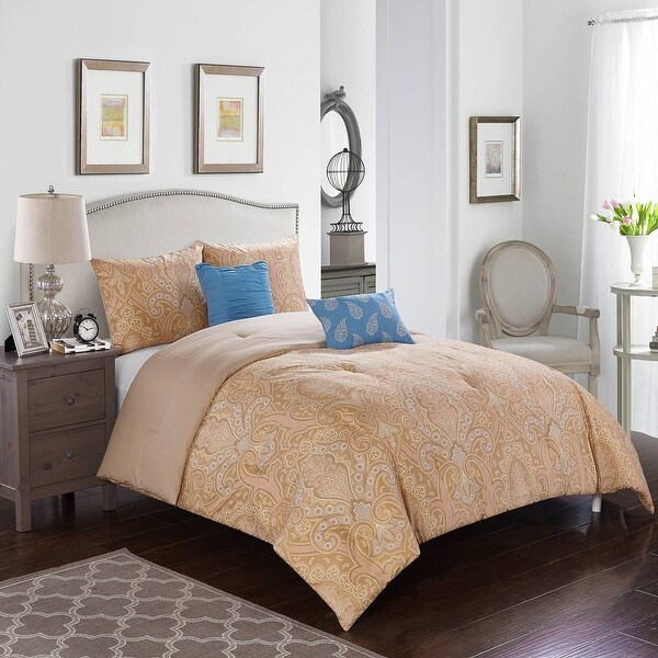 Tan Fleur 5 Piece Comforter Set by Better Homes and Gardens. Opens flyout.