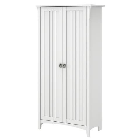 Salinas Bathroom Storage Cabinet with Doors by Bush Furniture
