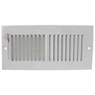 """Mintcraft SW02-10X4 2 Way Sidewall Register, 10"""" x 4"""", White"""