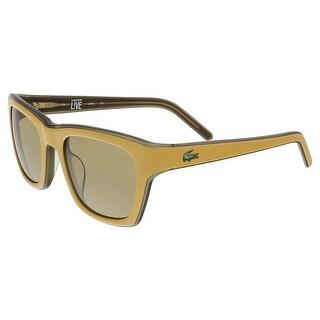 Lacoste L 645S 211 Yellow/Khaki Rectangle Sunglasses - 51-21-135