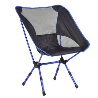 Costway Adjustable Aluminum Folding Camping Chair Seat Fishing Hiking Beach Outdoor /Bag