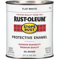 Rust-Oleum Flat White Enamel 7790-502 Unit: QT