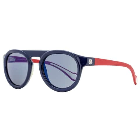 Moncler ML0088 90X Mens Dark Blue/Red 51 mm Sunglasses - Dark Blue/Red
