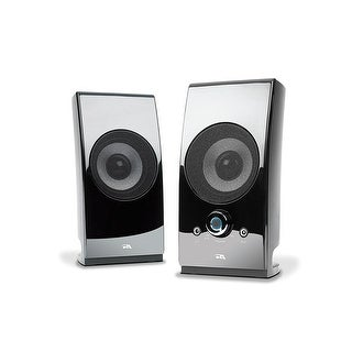 Cyber Acoustics Ca-2027 2-Channel Surround Powered Home Speakers 2-Set Black