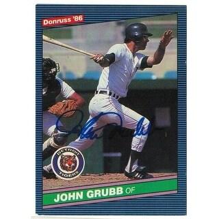 John Grubb Detroit Tigers Autographed 1986 Donruss Card
