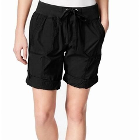 Calvin Klein Performance Black Womens Size Small S Cargo Shorts