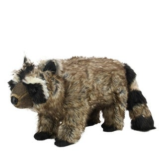 """27"""" Life-Like Extra Soft Standing Raccoon Stuffed Animal Footrest - Brown"""