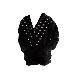 Roper Western Jacket Girls Outerwear Hoodie Black 03-089-0514-0681 BL