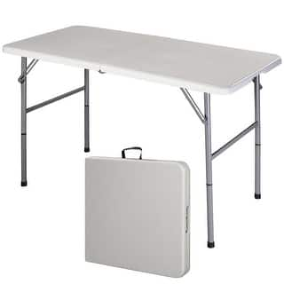 Costway 4' Folding Table Portable Indoor Outdoor Picnic Party Dining Camp Tables Utility https://ak1.ostkcdn.com/images/products/is/images/direct/7dfb40475b23655af82659ff710c6be6e13fa754/Costway-4%27-Folding-Table-Portable-Indoor-Outdoor-Picnic-Party-Dining-Camp-Tables-Utility.jpg?impolicy=medium