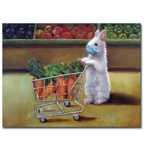 Quarantine Shopping by Lucia Heffernan Gallery Wrapped Canvas Giclee Art (18 in x 24 in)