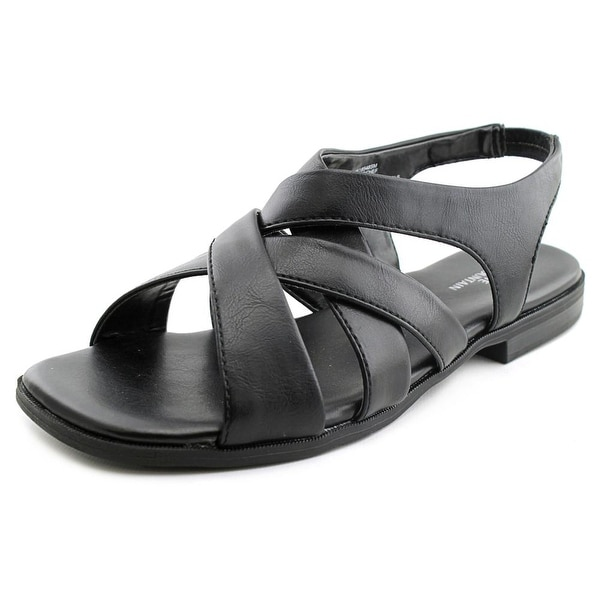 White Mountain Chef Women Open-Toe Synthetic Black Slingback Sandal