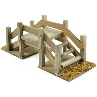 Fairy Garden Wood Stepping Bridge-6.25""